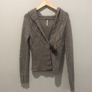 Freepeople Sweater Cardigan with Wood Button